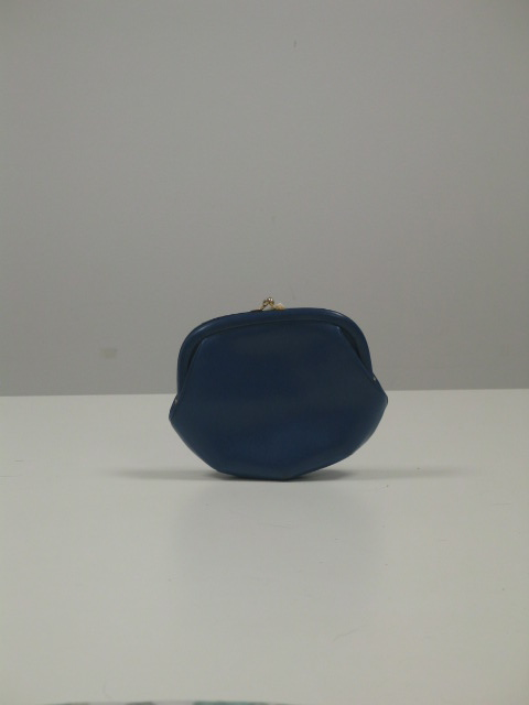 Bolso-monedero en cuero azulon