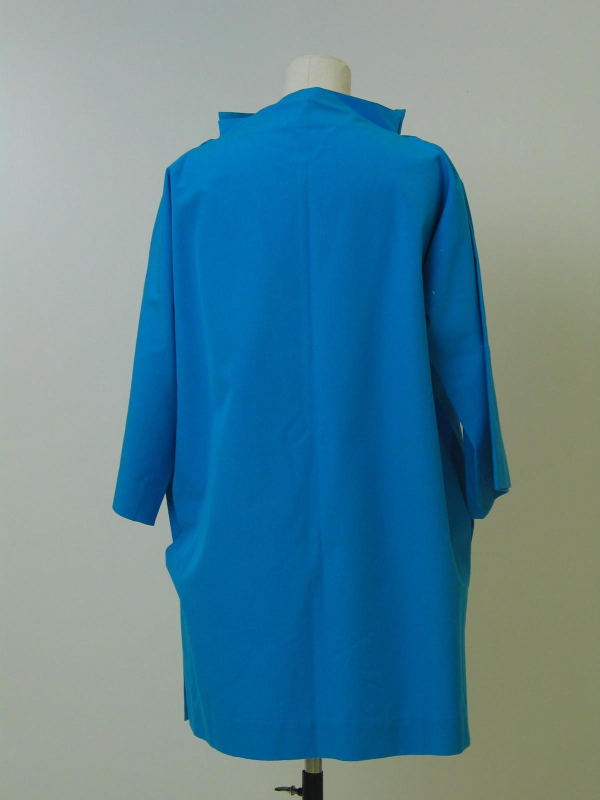 Blusa- túnica en algodón azul