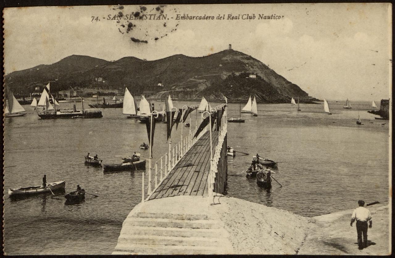 San Sebastián. Embarcadero del Real Club Náutico