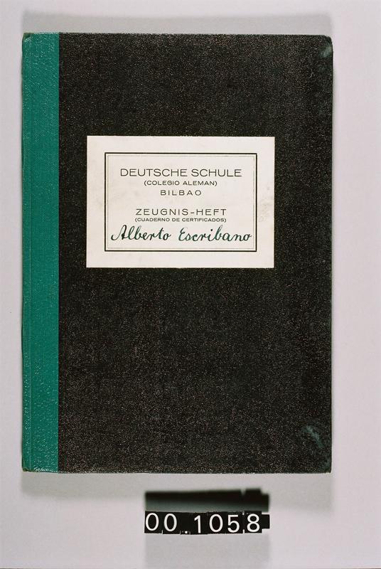 Cuaderno de Certificados del Colegio Alemán
