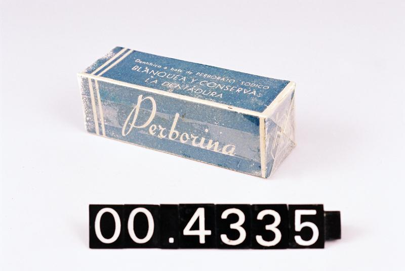 "Caja de dentífrico ""Perborina"""