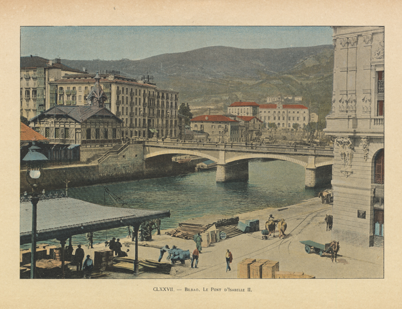 """Bilbao. Le pont d'Isabelle II"""
