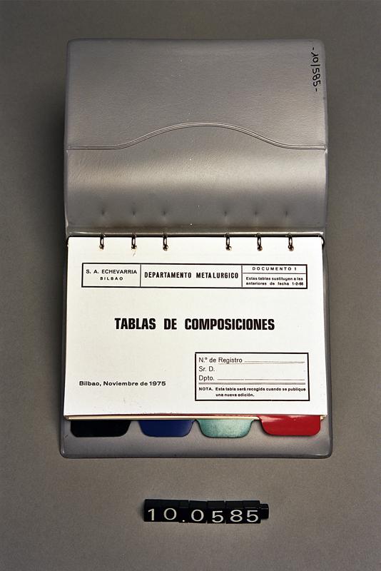 """""""Tablas de composiciones S.A. ECHEVARRIA"""""""