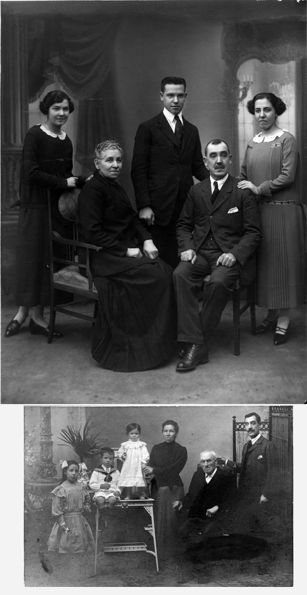 Fotografías de la familia Castaños Larreategui