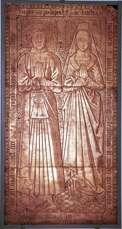 Lauda sepulcral de Pedro Lopez de Vitoria y su mujer Maria Sanchez