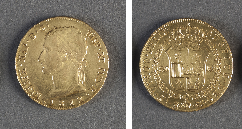 Moneda de oro 320 reales de José Napoleón I