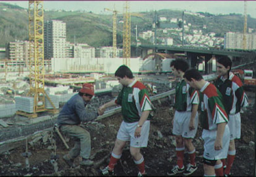 [Acciones en Bilbao, obras de construcción del Museo Guggenheim]