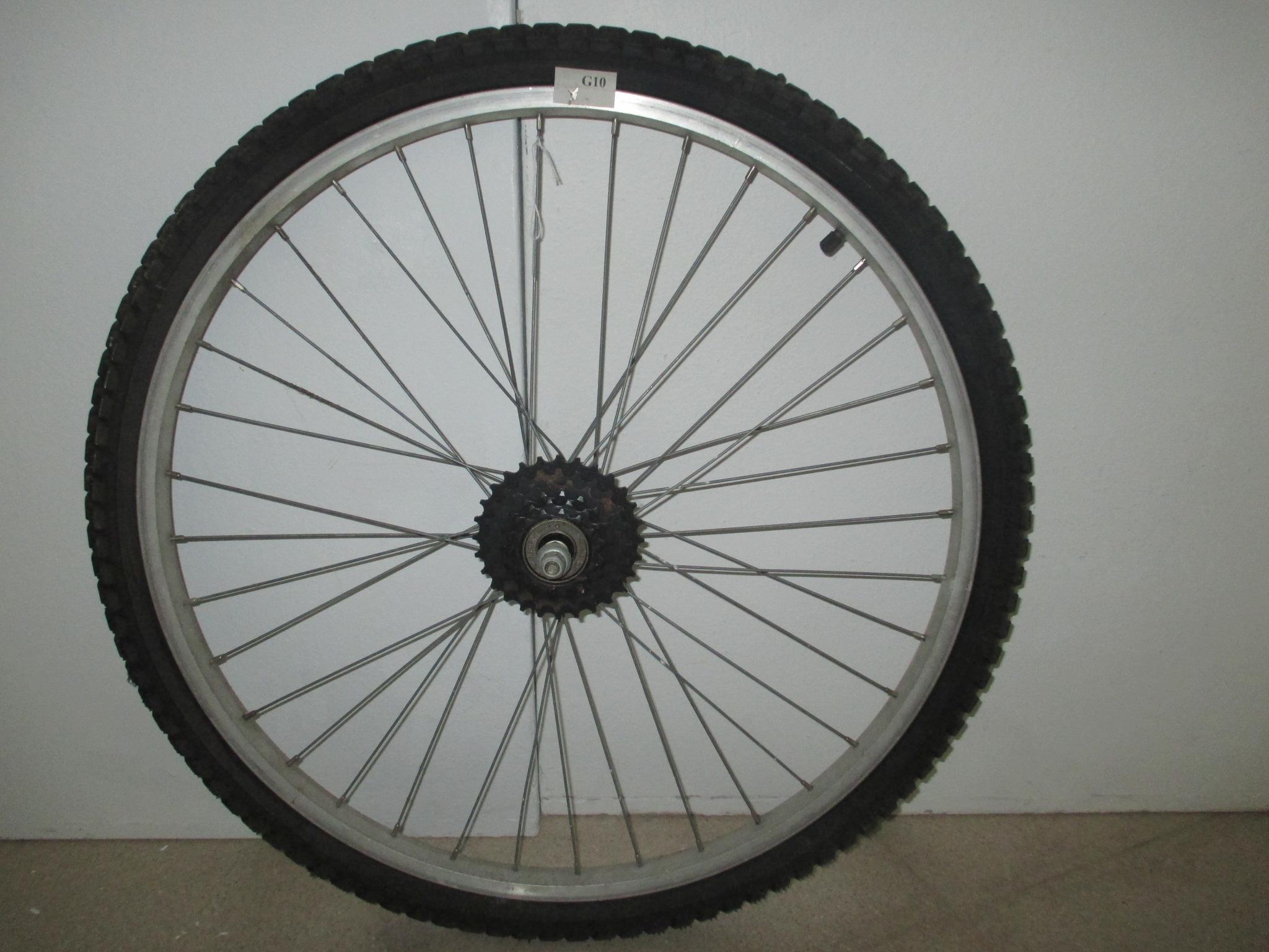 Rueda trasera de bicicleta de montaña