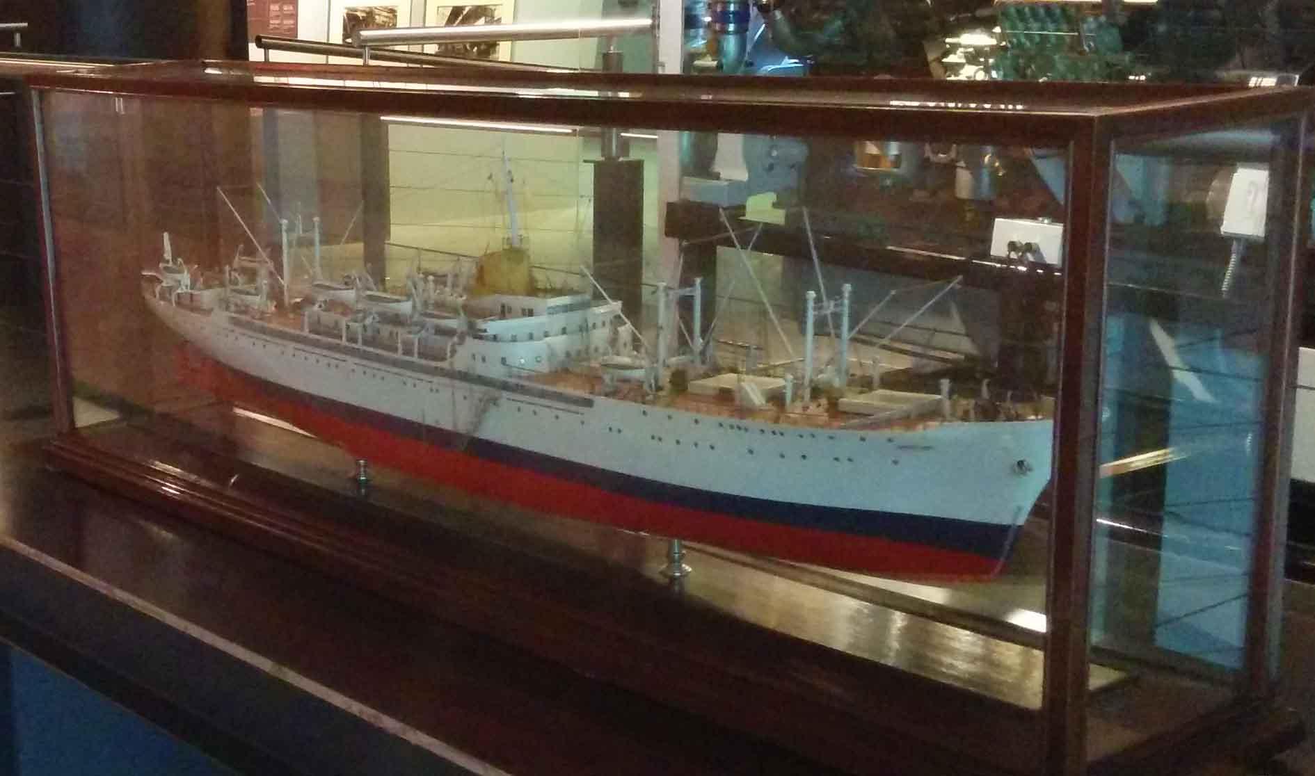 Maqueta buque 'Monte Umbe'