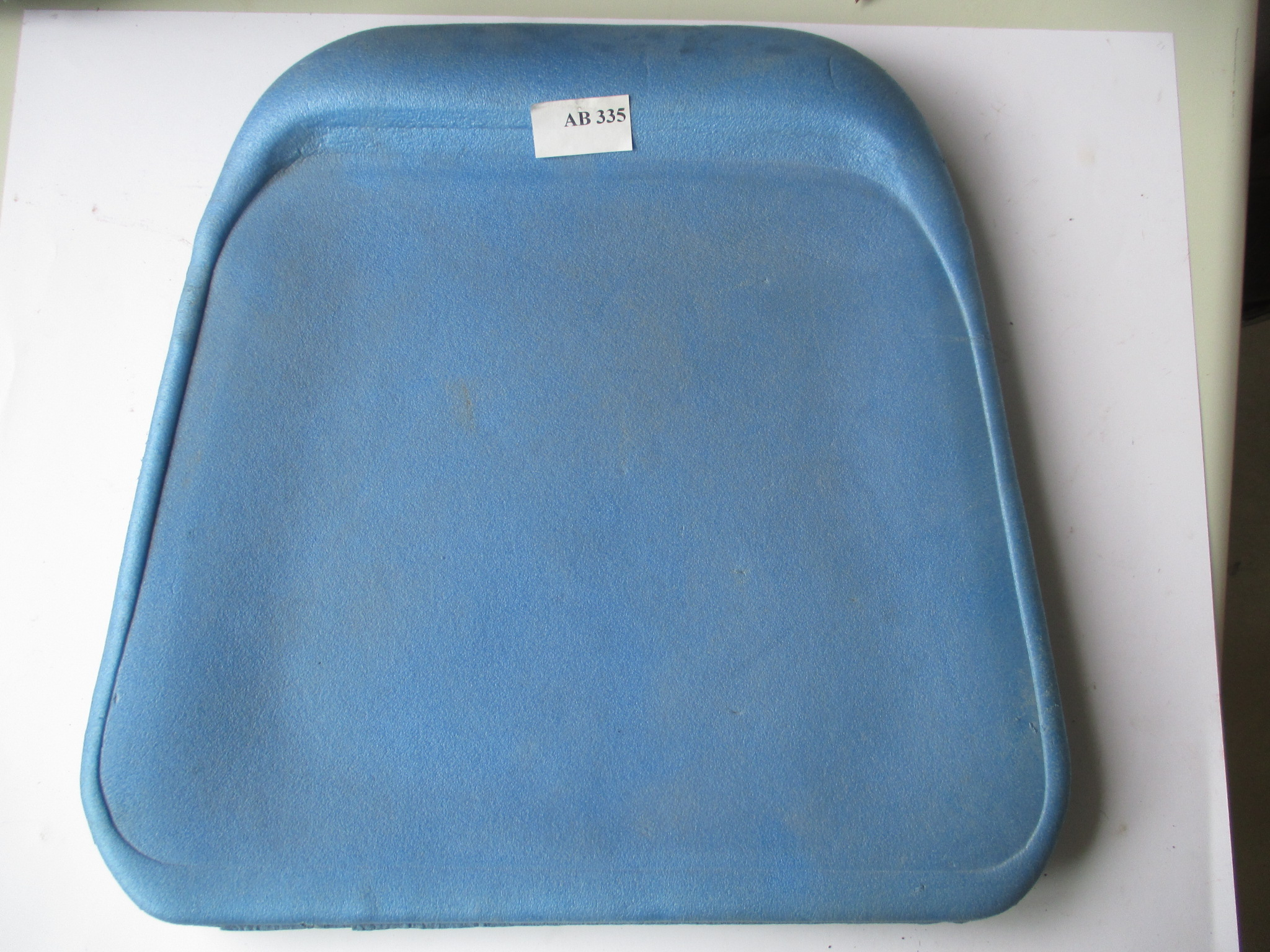 Asiento de poliuretano azul