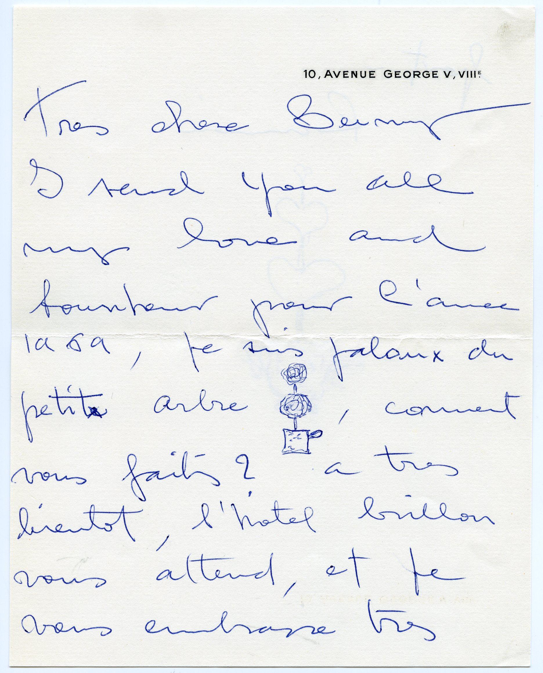 Carta enviada por Ramon Esparza a madame Paul Mellon