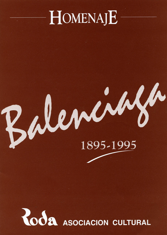 Programa del homenaje que se hizo a Balenciaga en Bilbao