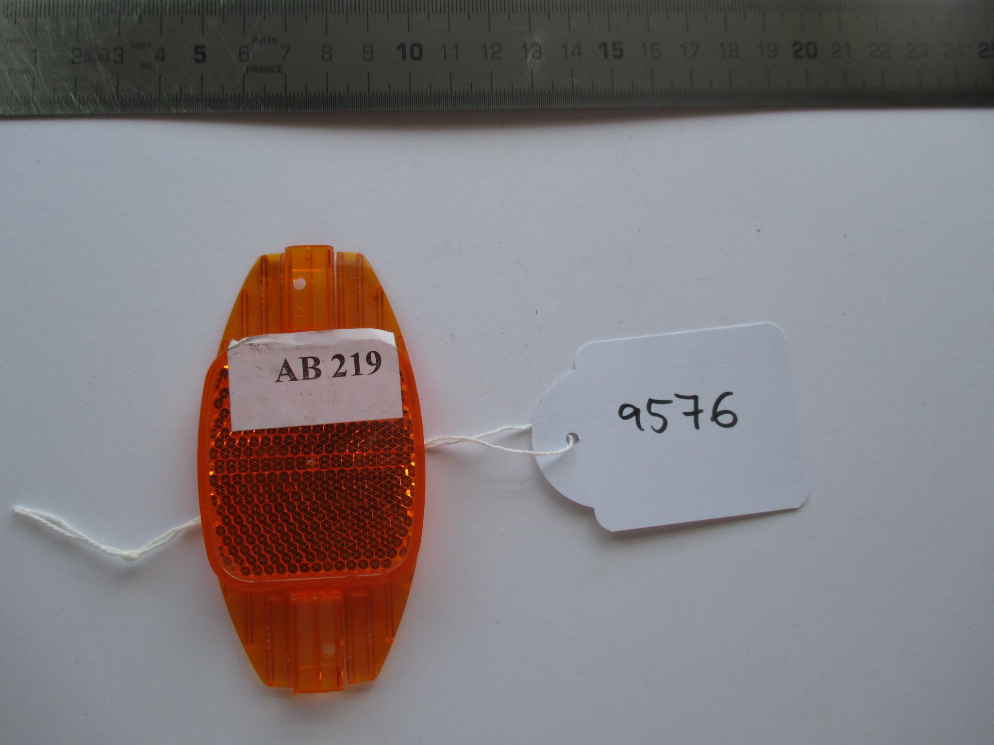 Catadióptrico naranja de bicicleta