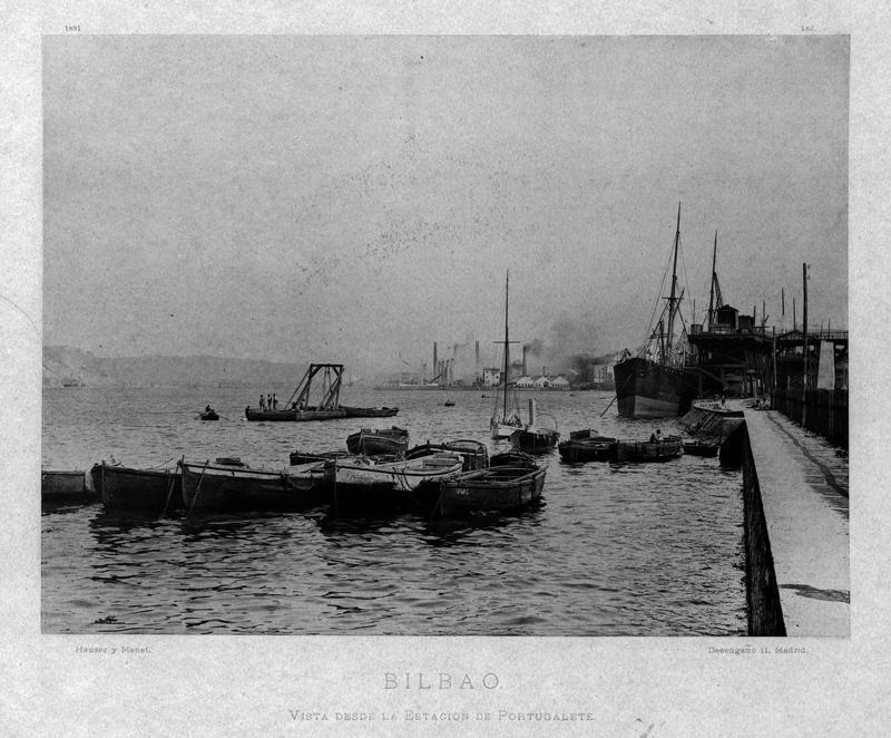 """""""Bilbao. Vista desde la estación de Portugalete"""""""