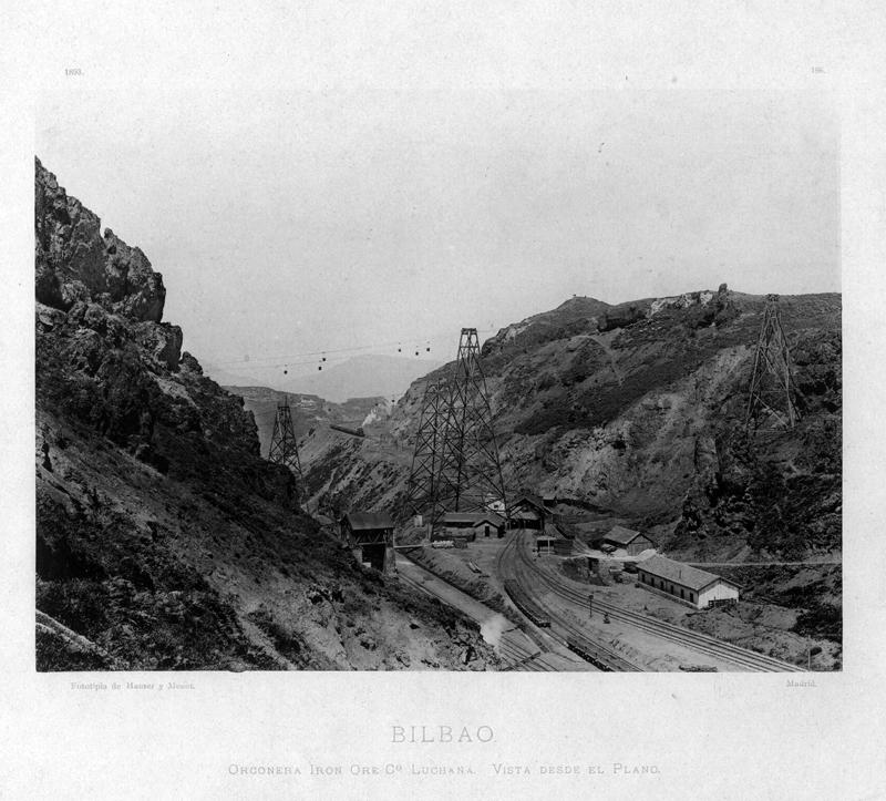 """""""Bilbao. Orconera Iron Ore Cº Luchana. Vista desde el Plano"""""""