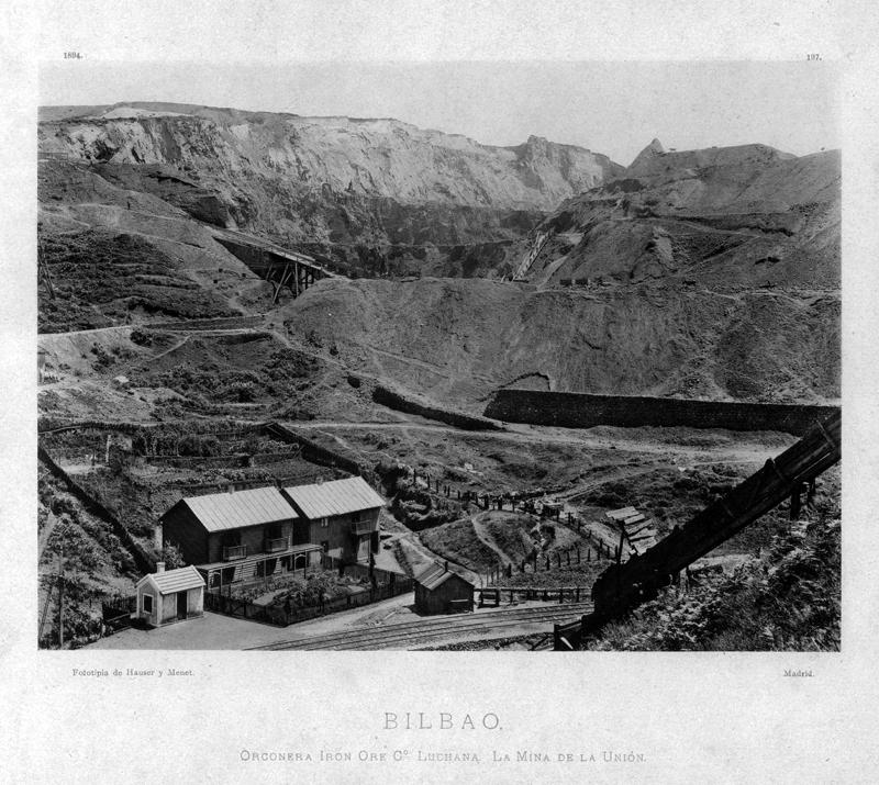 """Bilbao. Orconera Iron Ore Cº Luchana. La Mina de la Unión"""