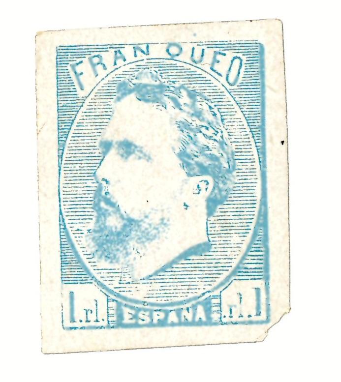 Sello de 1 real de Carlos VII