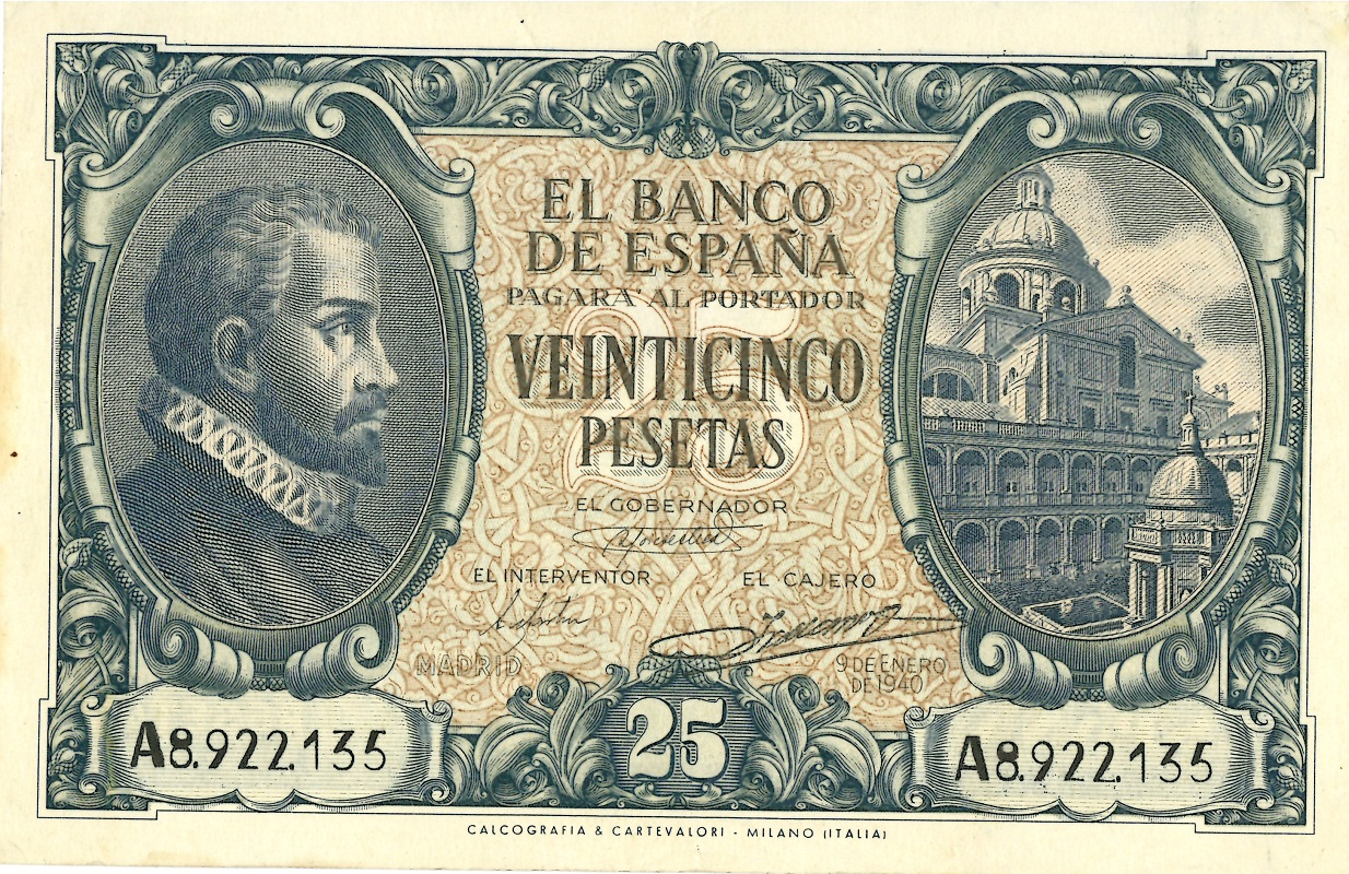 Billete de 25 pesetas