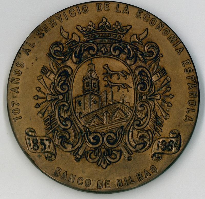 Medalla de la fundación del Banco Industrial de Bilbao