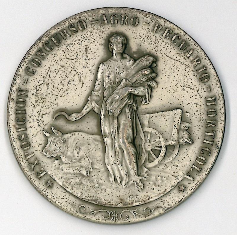 Medalla de la exposición concurso agro pecuario hortícola de San Sebastián