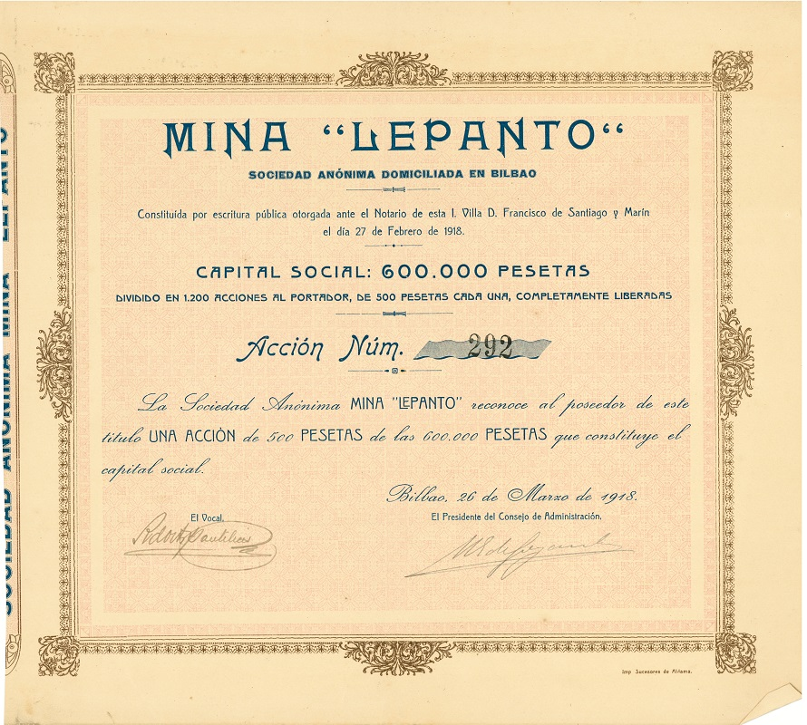 "Sociedad Anónima Mina ""Lepanto"""