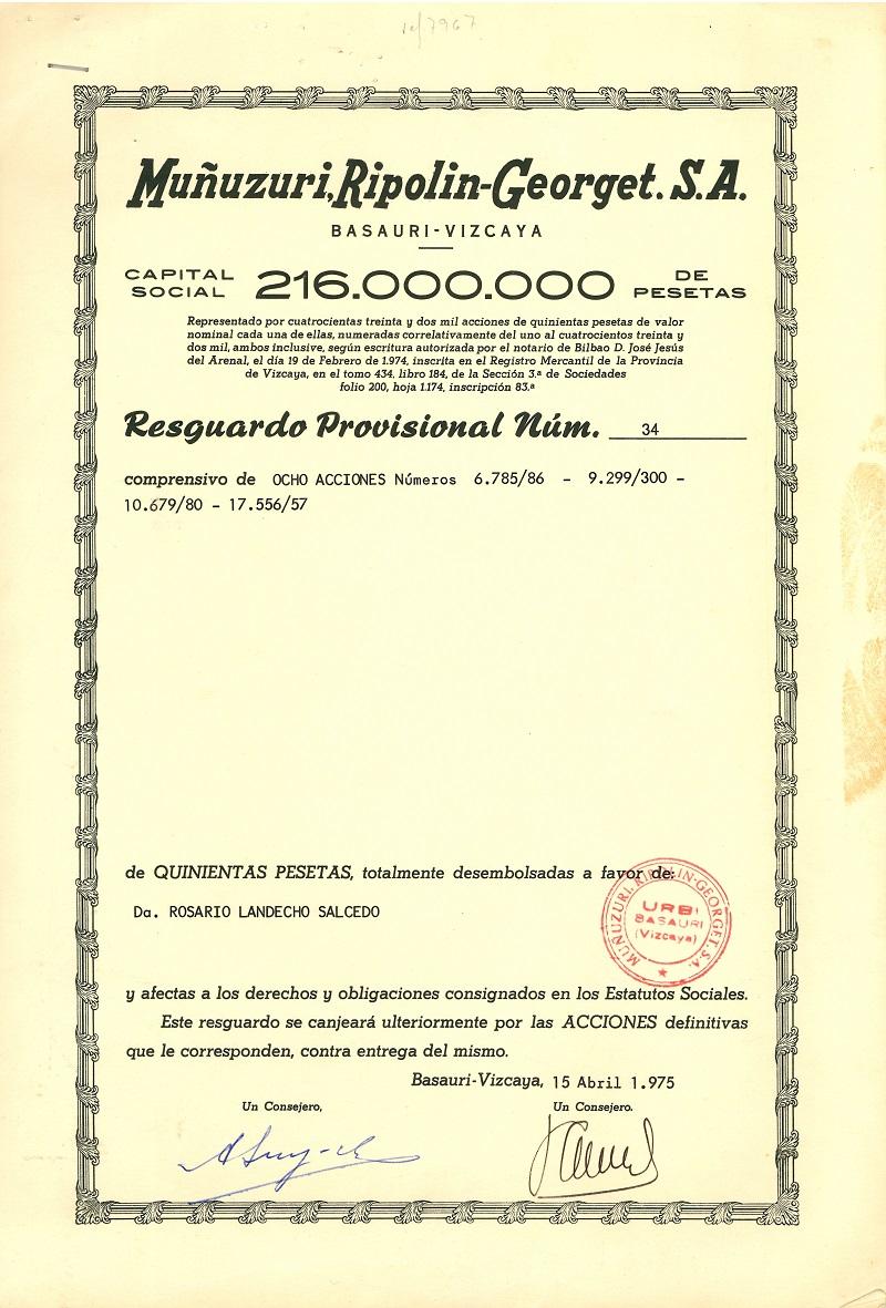 Sociedad Anónima Muñuzuri - Ripolin - Georget