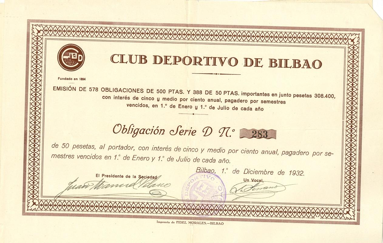 Obligaciones del Club Deportivo de Bilbao