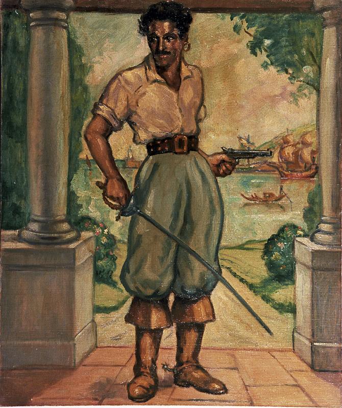 """Retrato de Luis Alonso, """"Gilbert Roland"""""""