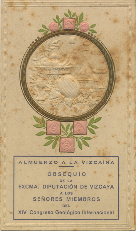 Banquete de la Diputación de Vizcaya a los miembros del XIV Congreso Geológico Internacional