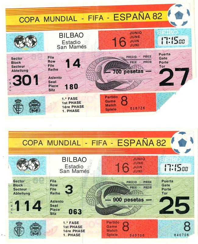 Entradas de la Copa Mundial de Futbol