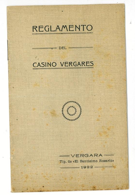 """""""Reglamento del Casino Vergarés"""""""