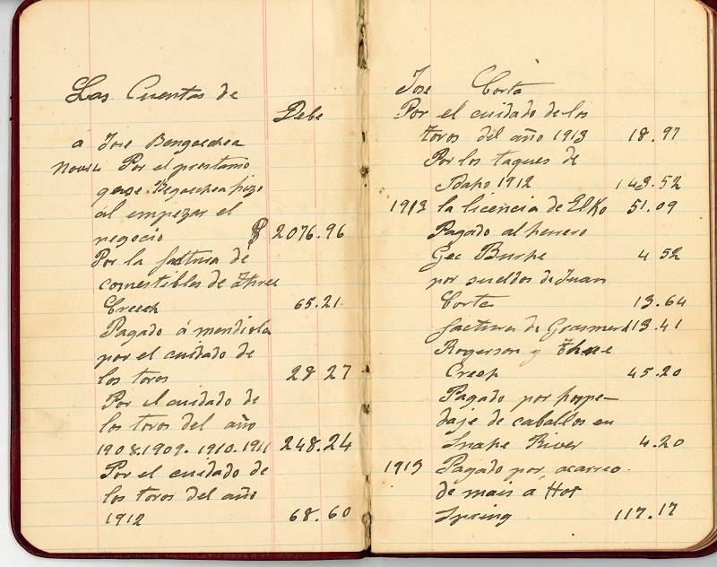 Cuaderno de cuentas
