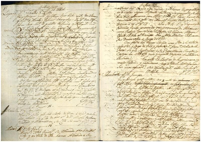 Copiador de cartas del comercio Groh, Yerschik y Cia.