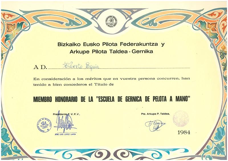 Escuela de Gernica de Pelota a Mano