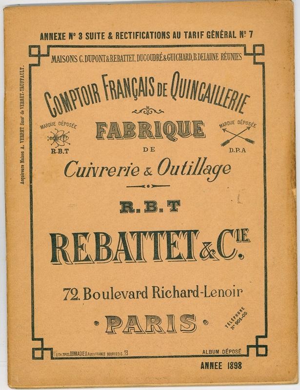 """""""Comptoir Français de Quincallerie Rebattet & Cie."""""""