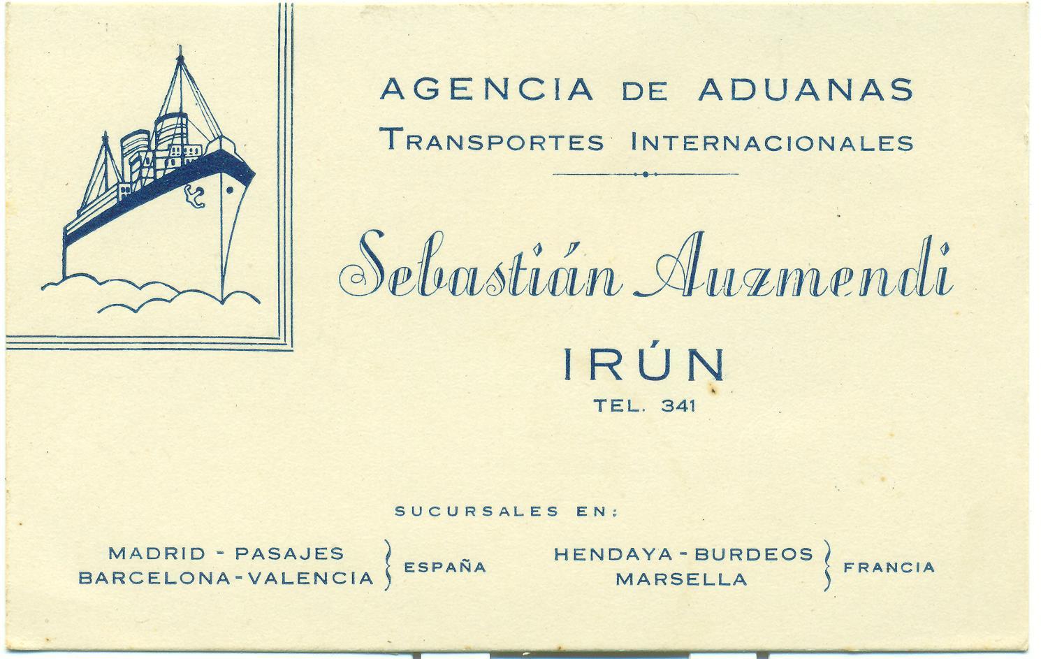 AGENCIA DE ADUANAS (TRANSPORTES INTERNACIONALES)