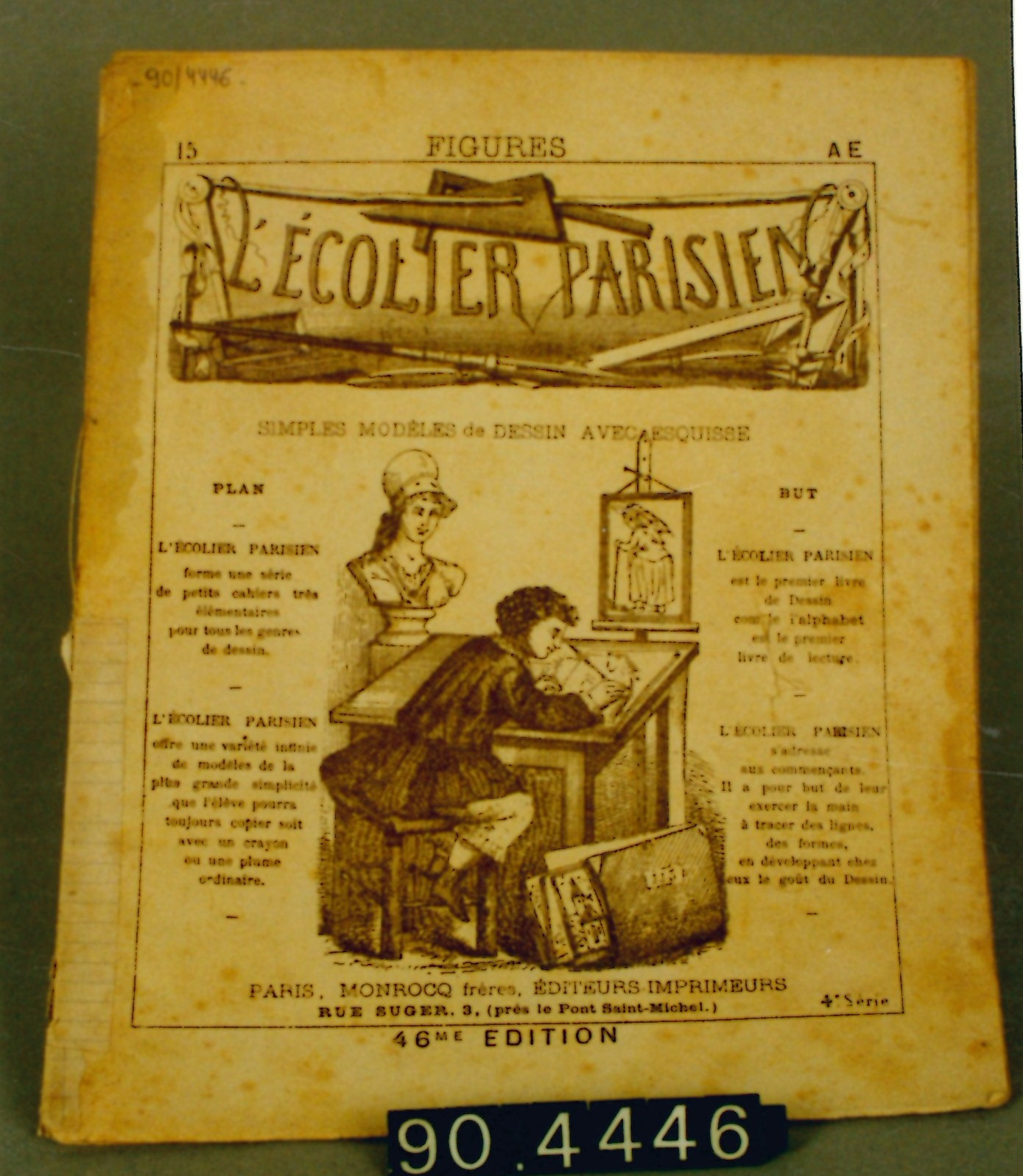 """Cuaderno de dibujo """"L'ecolier parisien"""""""
