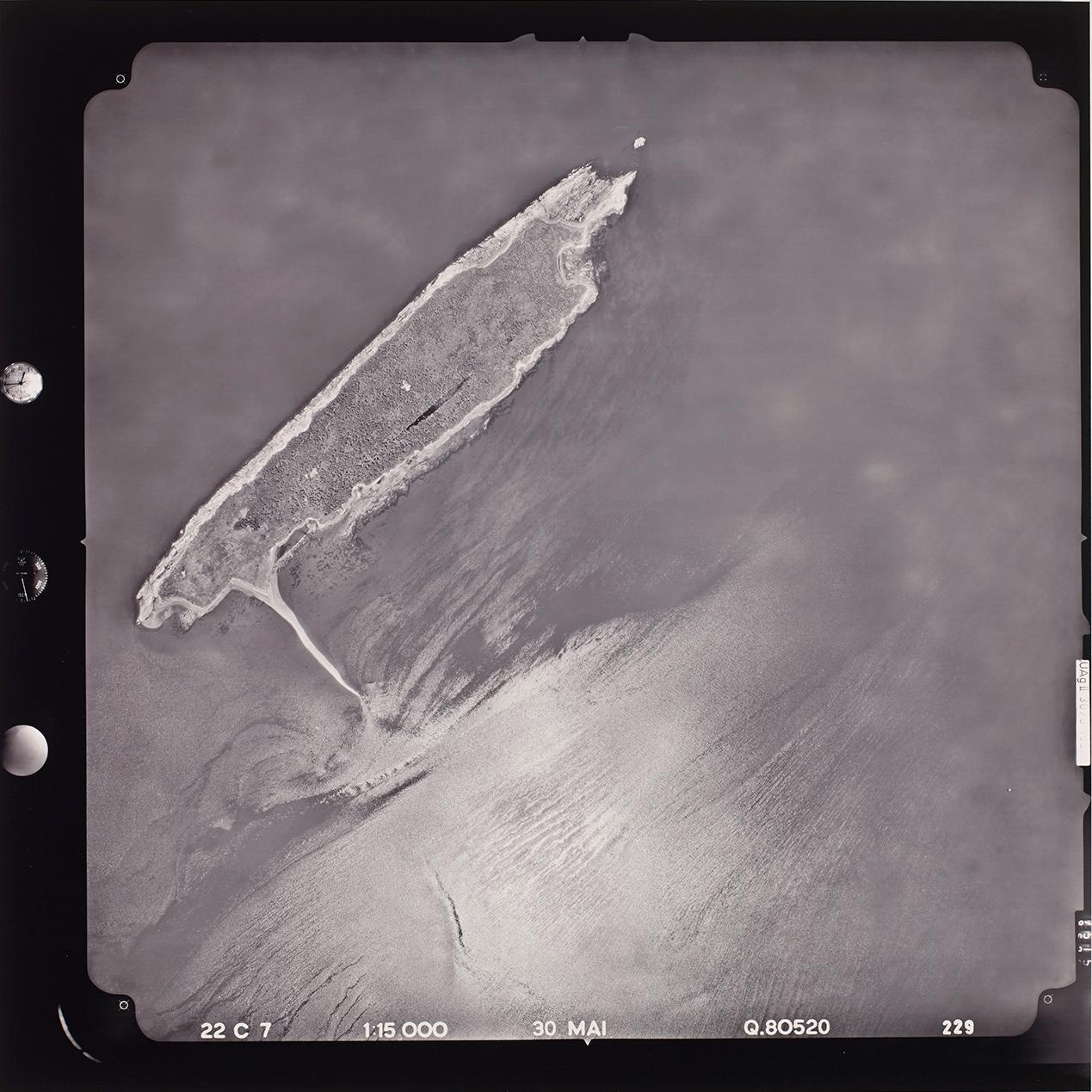 Fotografía de satélite de la isla de los Vascos
