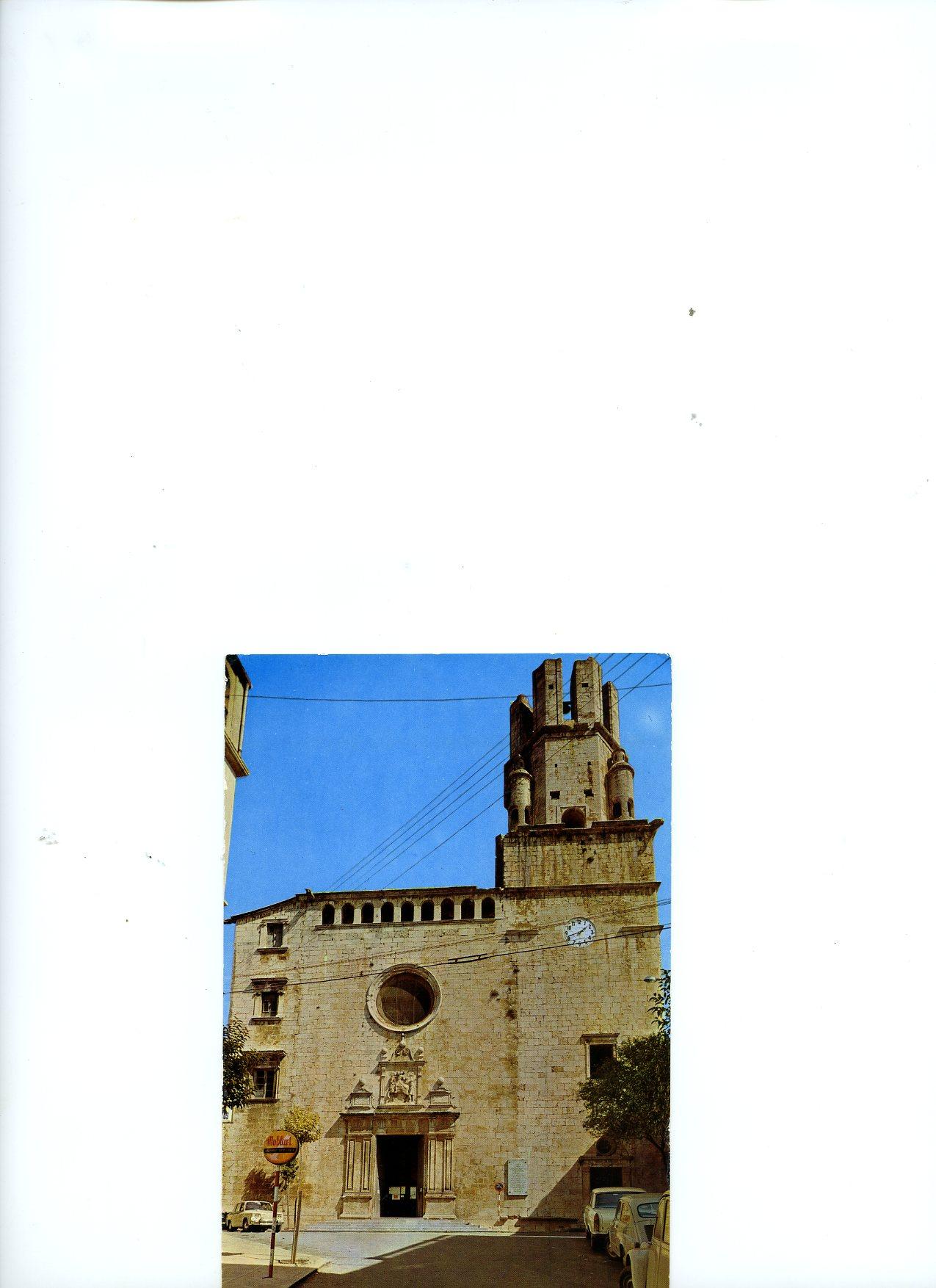 Postal de Iglesia parroquial de Palafrugell, Gerona, enviada por Cristobal Y Ramón a Mrs Paul Mellon