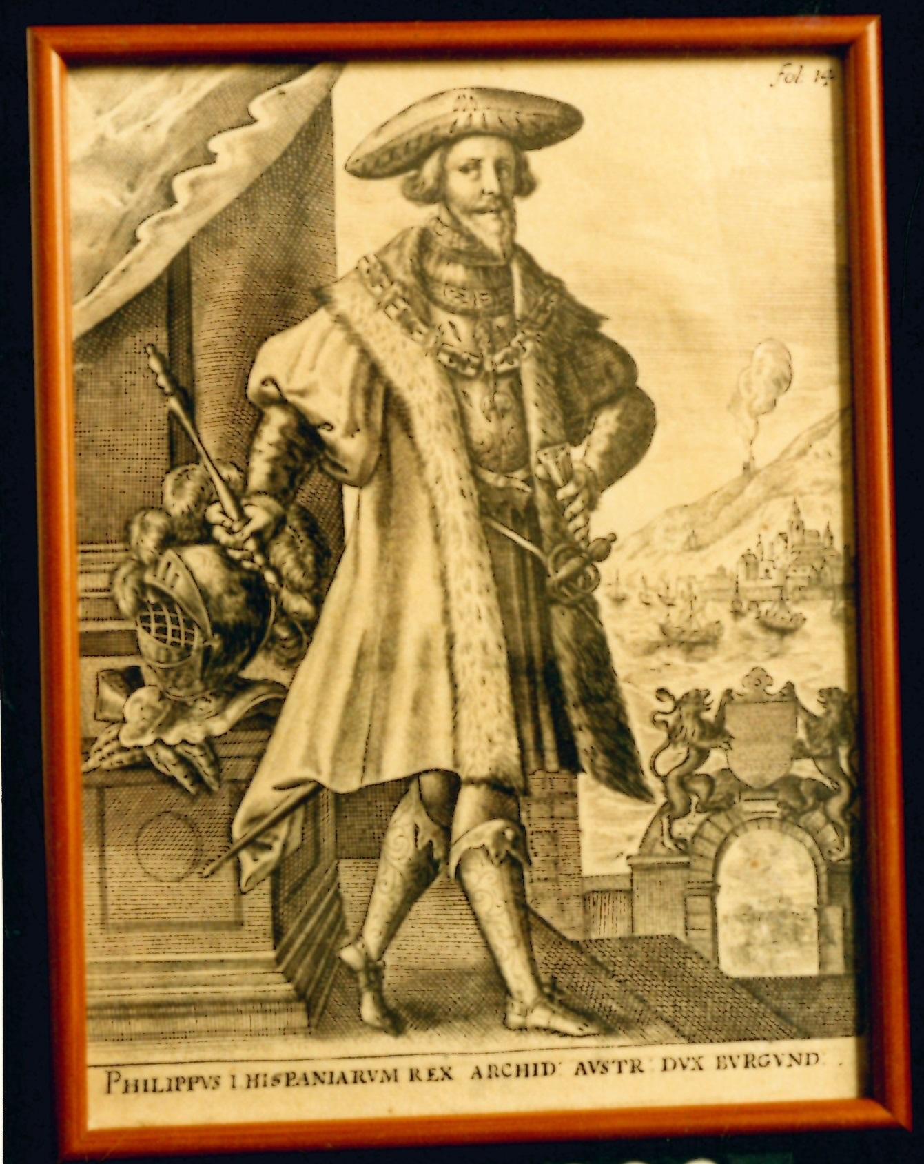 """""""Philippus I Hispaniarum Rex. Archid Austr . Dux Burgund"""""""