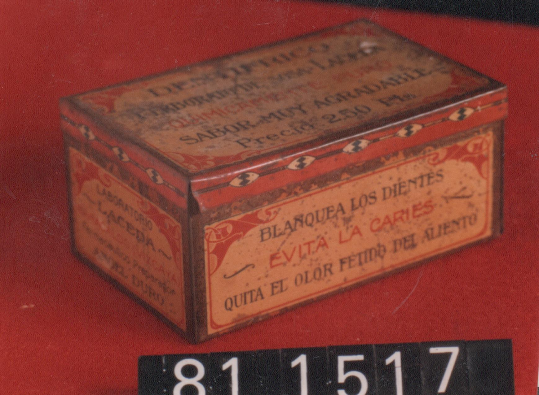 """Caja de dentífrico """"Laceda"""""""