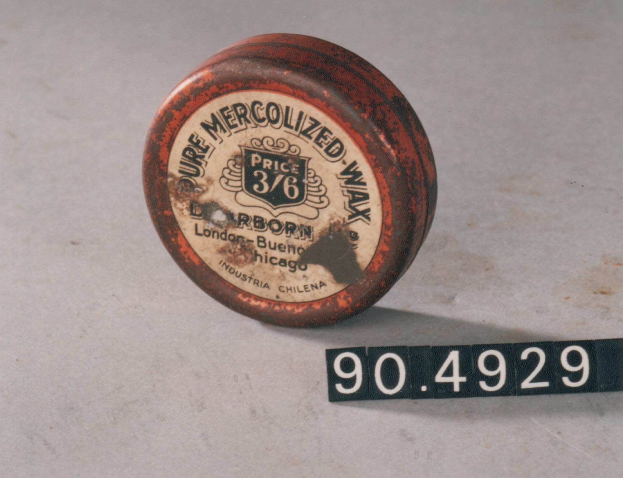 Caja de cera mercolizada