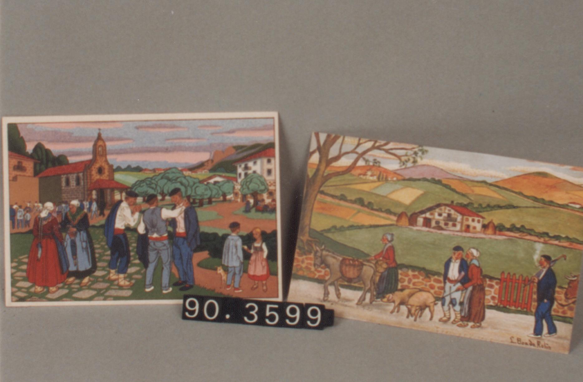 Postales de escenas tradicionales de la vida vasca (2)