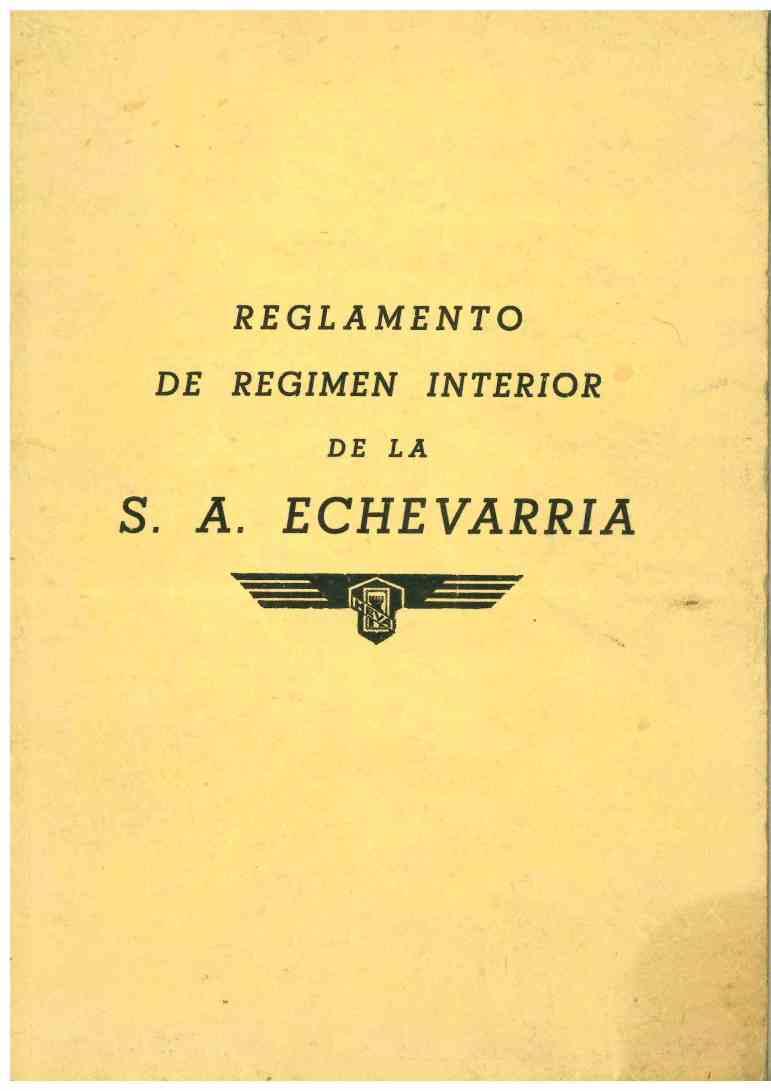 Reglamento Régimen Interior de la S.A. Echevarria