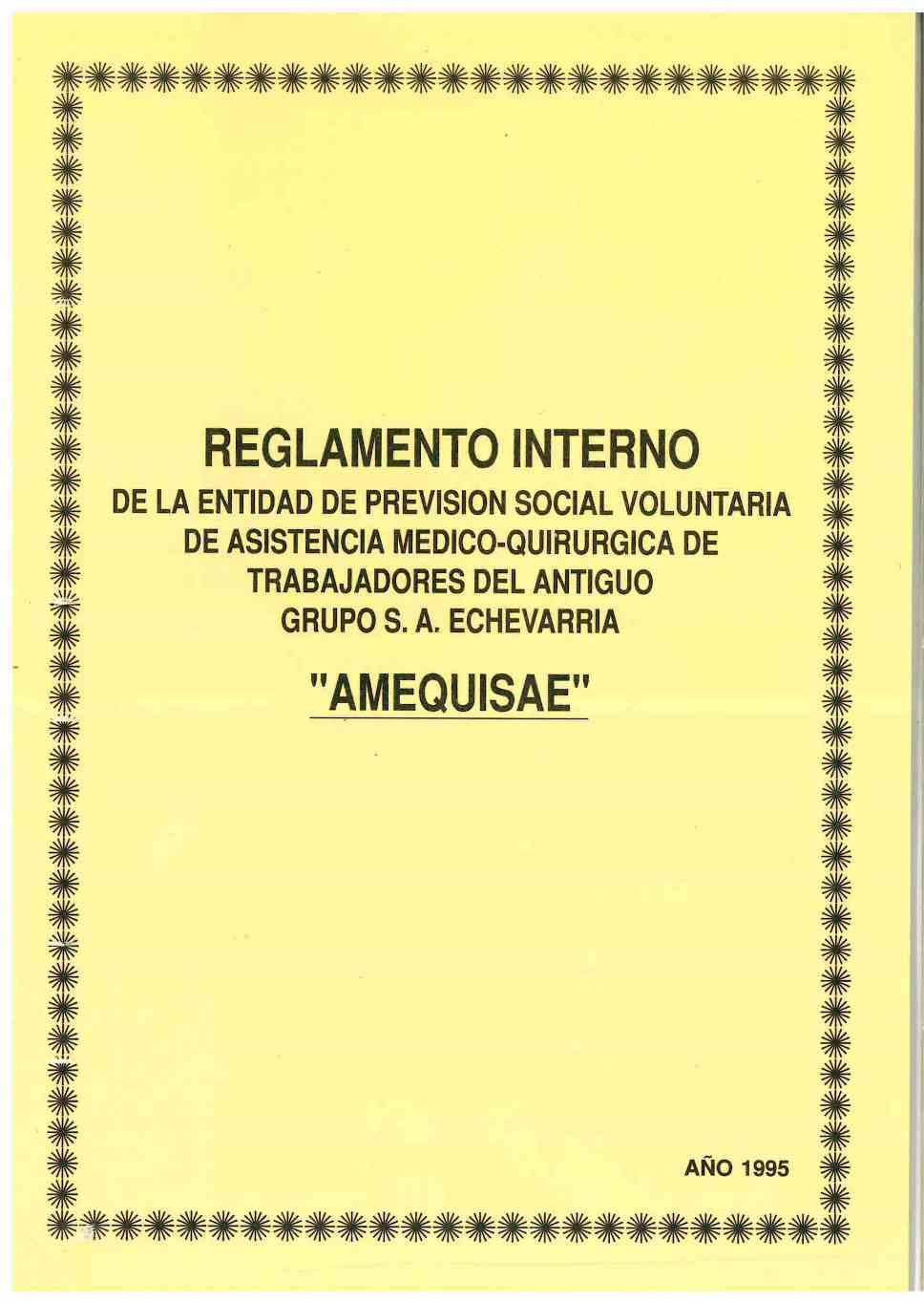 AMEQUISAE de la S.A. Echevarria