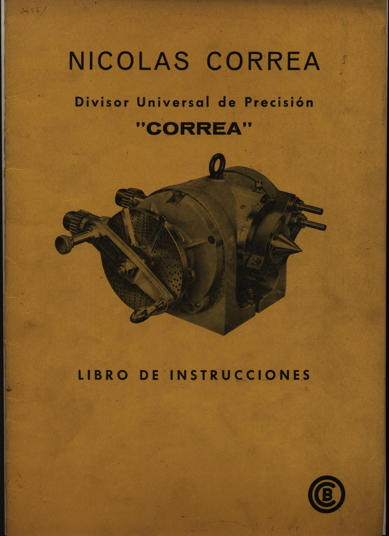 """DIVISOR UNIVERSAL DE PRECISIÓN """"CORREA"""""""