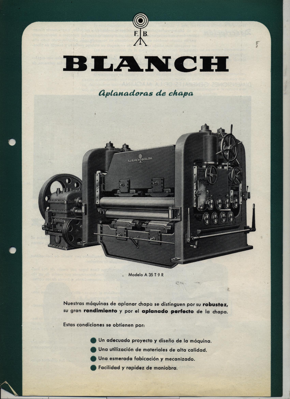 """APLANADORA DE CHAPA """"BLANCH"""""""