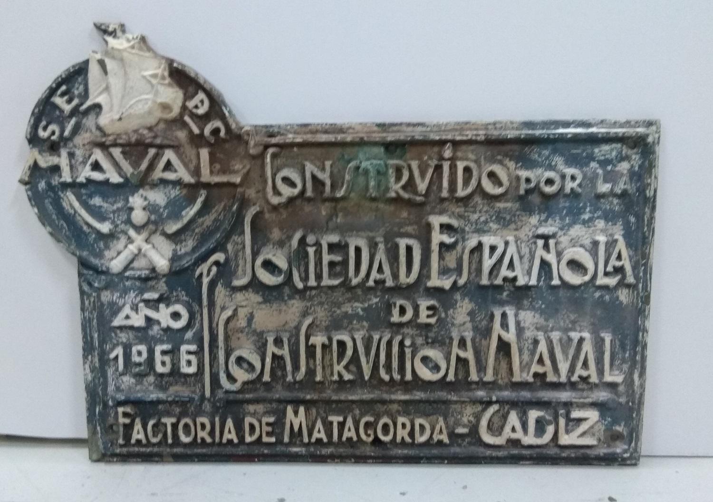 Placa Sociedad Española de Construcción Naval Matagorda