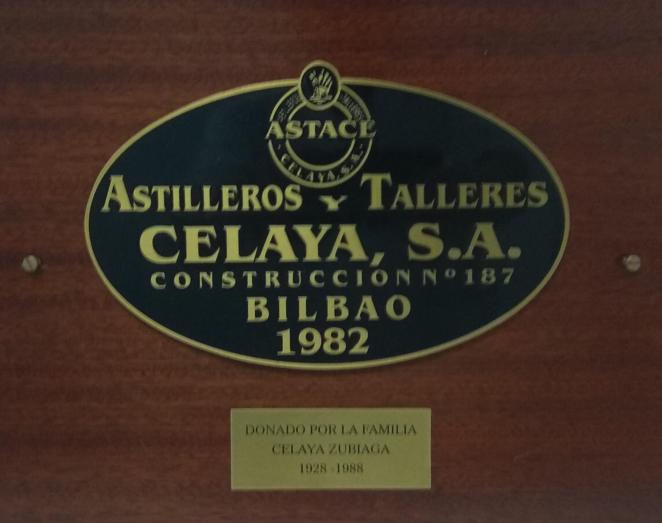 Placa Astilleros Celaya