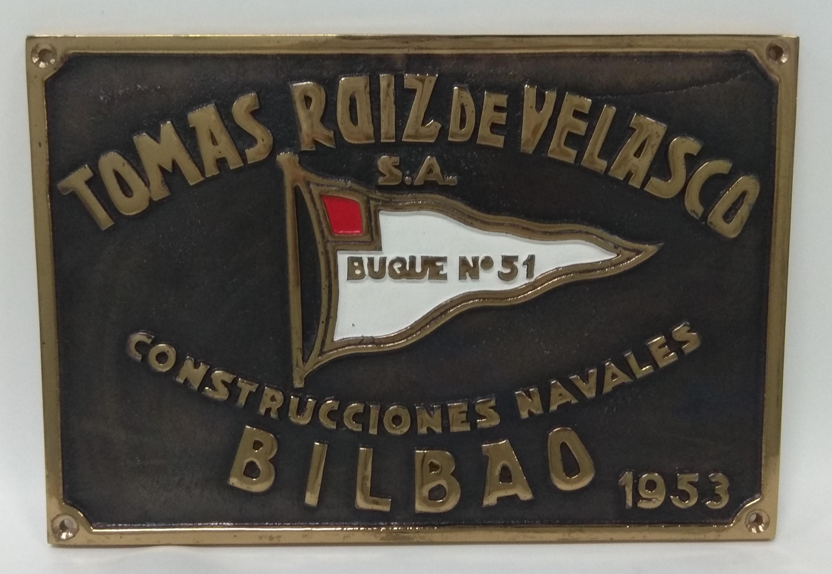 Placa Astillero Tomás Ruiz de Velasco
